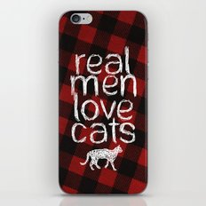 Real Men Love Cats iPhone & iPod Skin