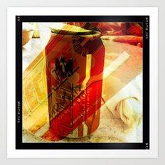 Tecate Beer Art Print