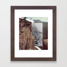Road Block Framed Art Print