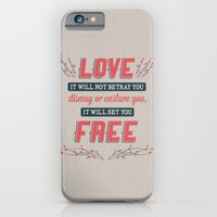 iPhone & iPod Case featuring Love Will Set You Free by beware1984