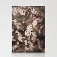 cherry blossom Stationery Cards featuring Cherry Blossom by Evan Dalen