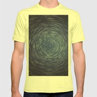 Center of the Axis Mens Fitted Tee Lemon SMALL