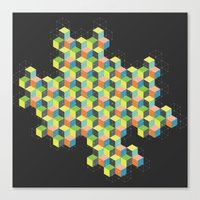 Island of Cubes Canvas Print