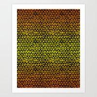 mosaic stripes Art Print