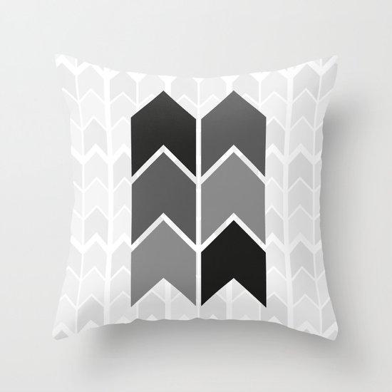 Black & White Arrow Pattern Throw Pillow
