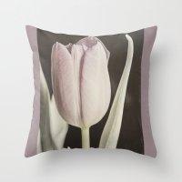 Vintage Tulip Throw Pillow