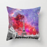 NEBULA VINTAGE PARIS Throw Pillow