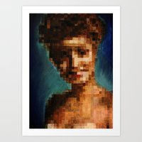 Who Pixelated Laura Palm… Art Print