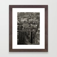 Old Downtown Framed Art Print