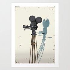 Old Movie camera poster Art Print