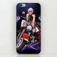Motorcycle pinup iPhone & iPod Skin