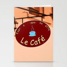 Le Cafe, France Stationery Cards