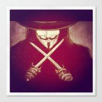 V for Vendetta4 Canvas Print