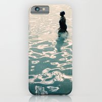 Lady in swimming pool iPhone 6 Slim Case