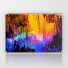 CASTLES IN THE MIST Magical Abstract Acrylic Painting Mixed Media Fantasy Cosmic Colorful Galaxy  Laptop & iPad Skin
