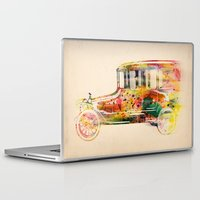 car Laptop & iPad Skins featuring  car  by mark ashkenazi