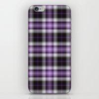 Purple Plaid iPhone & iPod Skin