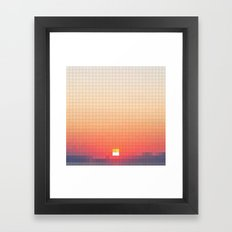 Geometric Sunset Framed Art Print