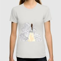 Shuttle Launch Womens Fitted Tee Silver SMALL