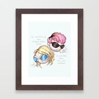 Layne & Kurt Fine Art Print Framed Art Print