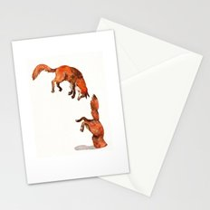 Jumping Red Fox Stationery Cards