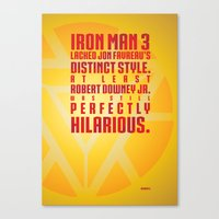 Nerdism 4 - Iron Man Canvas Print