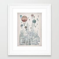 Framed Art Print featuring Voyages Over New York by David Fleck