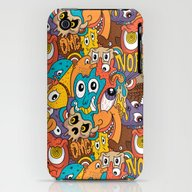 Weird Guys Pattern iPhone (3g, 3gs) Slim Case