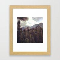 Mountain Fortress Framed Art Print