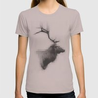 Mystic Elk Womens Fitted Tee Cinder SMALL