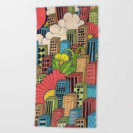 Beach Towel - Cityscape  -  Steve Wade ( Swade)