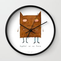 Together We Are Fierce Wall Clock