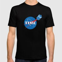 TIME Mens Fitted Tee Black SMALL