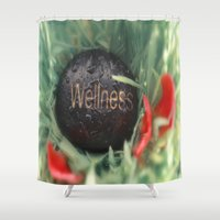 Wellness Stone And Red L… Shower Curtain