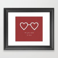 All You Need Is Love Framed Art Print