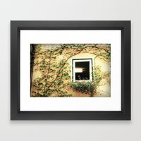 Window And Ivy Framed Art Print