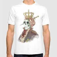I LOVE THE KING Mens Fitted Tee White SMALL