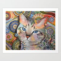 Aslan ... Abstract Cat A… Art Print