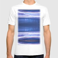 Night Light 121 Mens Fitted Tee White SMALL