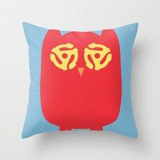 Owl 45s Throw Pillow