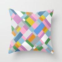 Grey Pink Map 45 Throw Pillow