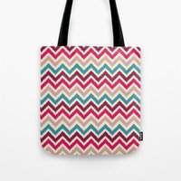Chevron 2 Tote Bag