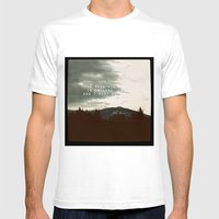 The Mountain is Calling Mens Fitted Tee White SMALL