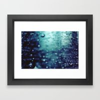 Bubbles Macro Framed Art Print