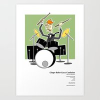 Ginger Baker Art Print