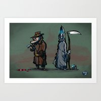 #40 Discworld Noir: Lewton, Death and Death of Rats Art Print