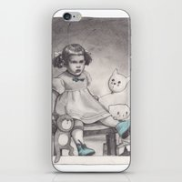 Her blue shoes iPhone & iPod Skin