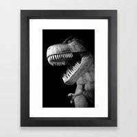 Tyrannosaurus Rex dinosaur Framed Art Print