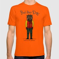 bad hair day no:5 / Thriller Mens Fitted Tee Orange SMALL