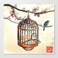 Chinese tea break Canvas Print